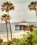 City Of Los Angeles Framed Prints - Manhattan Beach Pier Framed Print by Juli Scalzi