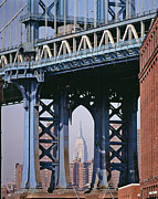 Daniel Furon - Manhattan Bridge Frames the Empire State Building