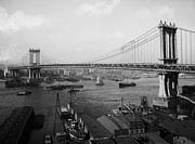 Piers Framed Prints - Manhattan Bridge New York 1903 Framed Print by Stefan Kuhn