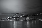 New York City Skyline Framed Prints - Manhattan Bridge - New York City Framed Print by Vivienne Gucwa