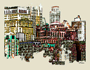 Ny Digital Art - Manhattan Cluster by Linda  Parker