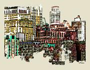Manhattan Cluster Print by Linda  Parker