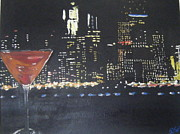Mahattan Prints - Manhattan Cocktail Print by Tami Farina