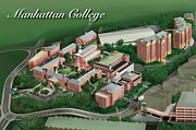 Colleges Drawings - Manhattan College by Rhett and Sherry  Erb