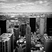 Monochrome Prints - Manhattan Print by David Bowman