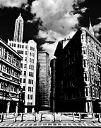 Crosswalk Photo Metal Prints - Manhattan Highlights B W Metal Print by Benjamin Yeager