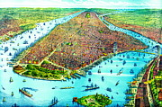 Manhattan Island 1879 Print by Padre Art