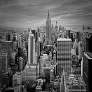 Black Top Prints - Manhattan Print by Melanie Viola
