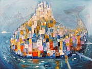Tasteful Mixed Media Prints - Manhattan Print by Mikhail Zarovny