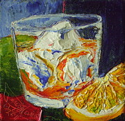 Paris Wyatt Llanso Prints - Manhattan Mixed Drink Print by Paris Wyatt Llanso