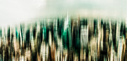 Nyc Digital Art Posters - Manhattan Panorama Abstract Poster by Hannes Cmarits