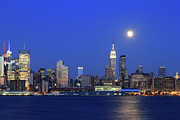 New York City Skyline Photos - Manhattan Skyline across Hudson River by John Lan