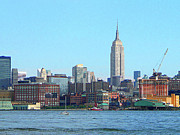 Skyscraper Art - Manhattan Skyline as Seen From Hoboken NJ by Susan Savad