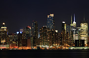 New York City Skyline Photos - Manhattan Skyline at Night by John Lan