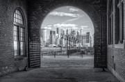 Terminal Prints - Manhattan Skyline from CRRNJ Terminal III Print by Clarence Holmes