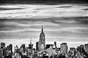 Manhattan Landscape Framed Prints - Manhattan Skyline Framed Print by John Farnan