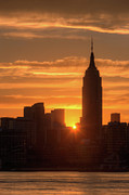 Silhouette - Manhattan Sunrise I by Clarence Holmes