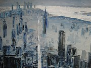 Manhattan Drawings - Manhattan. XX Century by Thomas  Harutunyan