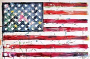 Stars And Stripes Mixed Media Originals - Manifest Destiny by Brian Degnon