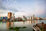 Manila Photos - Manila skyline at dusk by Fototrav Print