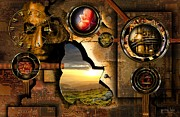Steampunk Poster Framed Prints - Manipulation Of The Human Reality Framed Print by Franziskus Pfleghart
