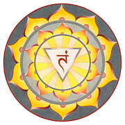 Manipura Prints - Manipura Chakra Print by Arlene Eve Johnson