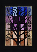 Glass Wall Drawings - Manitoba Maple by Barbara St Jean