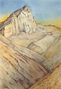 Manly Paintings - Manly Beacon from Golden Canyon by Lynne Bolwell