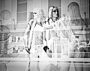 Haute Couture Posters - Mannequins in White Poster by Sonja Quintero