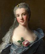 Famous Artists - Manon Balletti by Jean-Marc Nattier