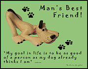 Paw Prints Posters - Mans Best Friend Poster by Barbara Snyder