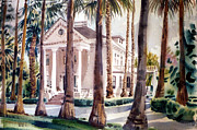 Palo Alto Prints - Mansion in Palo Alto Print by Donald Maier