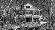 Haunted House Digital Art Metal Prints - Mansion on the Hill Metal Print by Ric Potvin