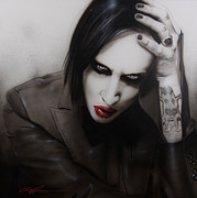 Marilyn Manson Framed Prints - Manson II Framed Print by Christian Chapman Art