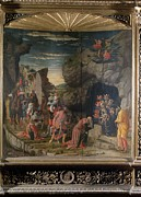 Adoration Prints - Mantegna Andrea, Uffizi Triptych Print by Everett