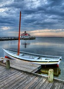 Boat Docks Framed Prints - Manteo Waterfront 2 Framed Print by Mel Steinhauer