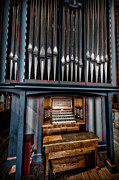 North Wales Digital Art - Manual Pipe Organ by Adrian Evans