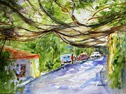Vine Paintings - Manuel Antonio Vine Canopy by Carlin Blahnik