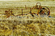 Relics Prints - Manure Spreader Print by Jeff  Swan