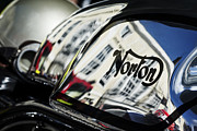 Chrome Prints - Manx Norton Chrome Tank Print by Tim Gainey