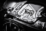 Petrol Framed Prints - Manx Norton Monochrome Framed Print by Tim Gainey