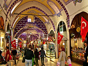 Archways Digital Art Posters - Many Archways in Grand Bazaar in Istanbul-Turkey Poster by Ruth Hager