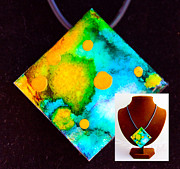 Water Jewelry Framed Prints - Many Moons Necklace Framed Print by Alene Sirott-Cope