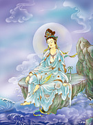 Kwan Yin Art Posters - Many Treasures Avalokitesvara Poster by Lanjee Chee