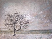 Grey Paintings - Many Winters by Victoria Primicias