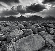 Pm Framed Prints - Manzanar Boulders 3 Framed Print by Don Hall