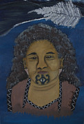 Maori Paintings - Maori Woman by Kate Farrant