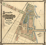 Map - World's Fair 1893 Print by Granger