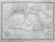 Northern Africa Prints - Map of Africa in Ancient Times Print by Paul Fearn