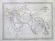1833 Photos - Map of Asia in Ancient Times by Paul Fearn